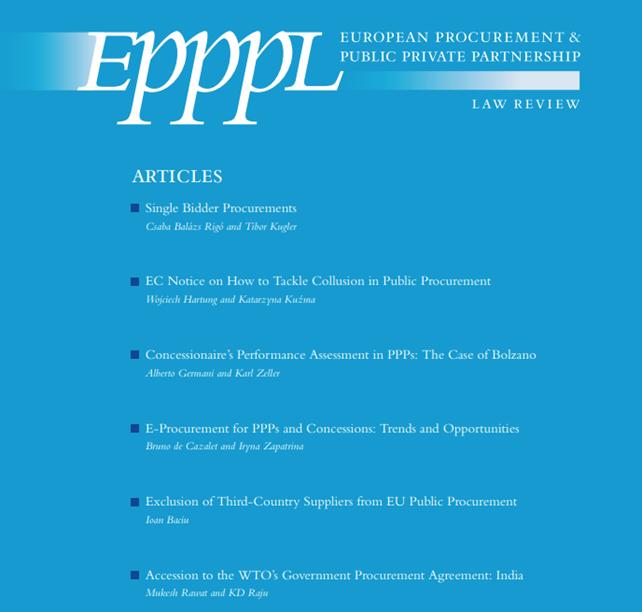 Cтаття в журналі European Procurement & Public Private Partnership Law Review